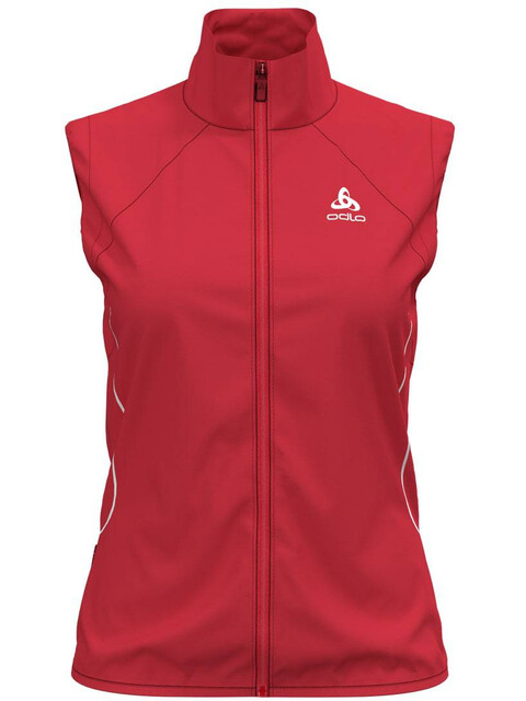 Odlo W's Zeroweight Windproof Warm Vest hibiscus